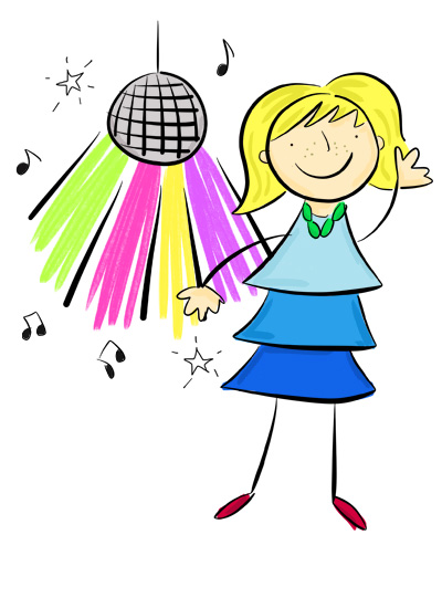 Karla's Parties Cornwall Kids Disco Illustration