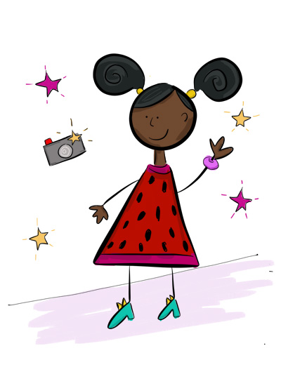 Karla's Parties Cornwall Kids Fashion Parade Illustration