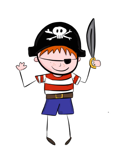 Karla's Parties Cornwall Kids Pirate Party Illustration