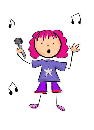 Karla's Parties Cornwall Kids Popstar Illustration