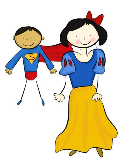 Karla's Parties Cornwall Kids Snow White Superman Illustration